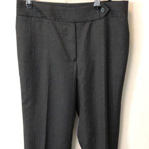 Tailored Dark Gray 120s Wool Suit Pants